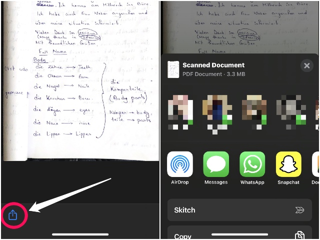 how to scan docs in ios 13