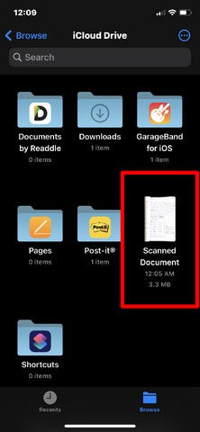 how to scan docs in ios 5