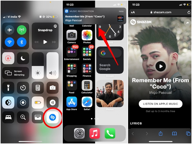 iOS how to use SHazam in CC