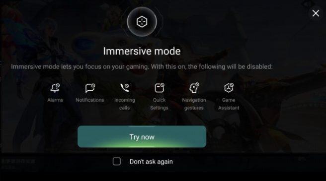 immersive game mode - colorOS 11