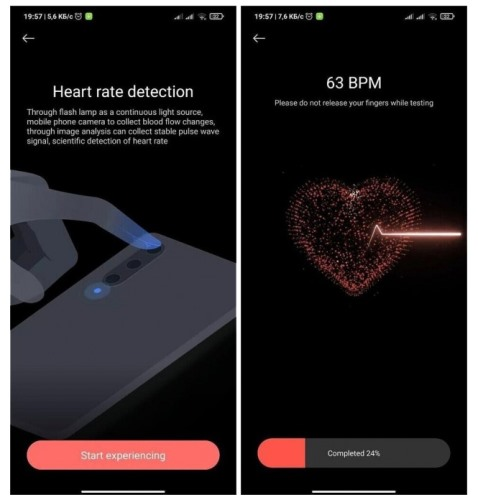 mi health - heart rate