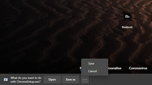 microsoft edge download UI