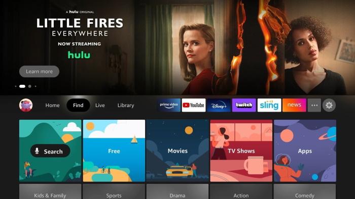 new Fire TV UI