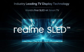 realme 4K SLED TV launching soon