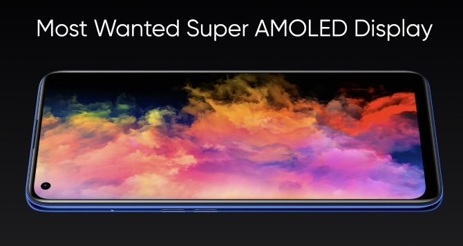 Realme 7 Pro features an AMOLED Display