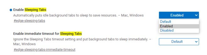 sleeping tabs 2