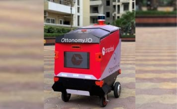 snapdeal - robot last mile delivery