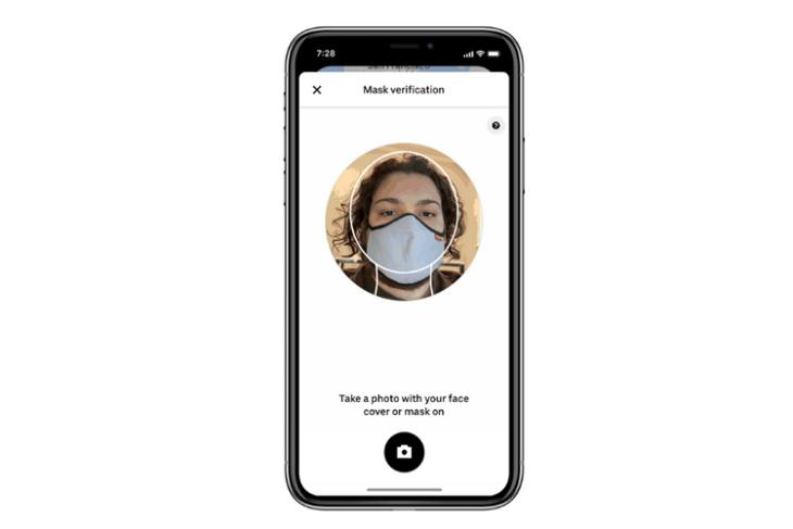 uber mask verification selfie