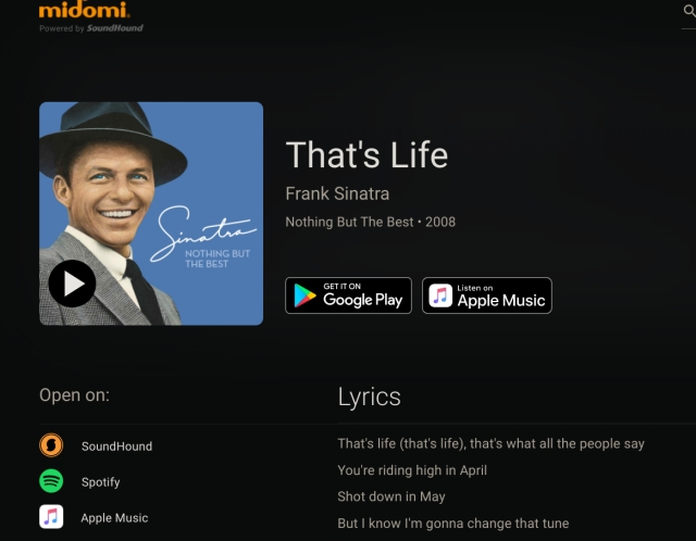 9. Midomi song recognition app