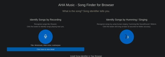 10. AHA Music song recognition app