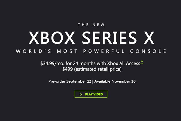 xbox series x price confirmed