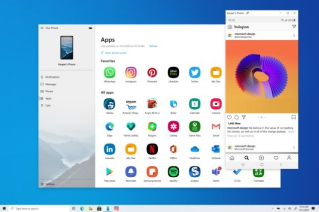 3. Your Phone Best Windows 10 Features