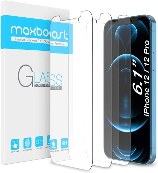 3. Maxboost Glass Best iPhone 12 Pro Screen Protector