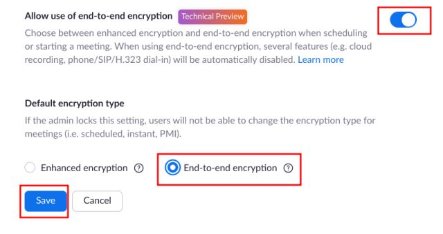 Enable End-to-End Encryption on Zoom (For Individuals)