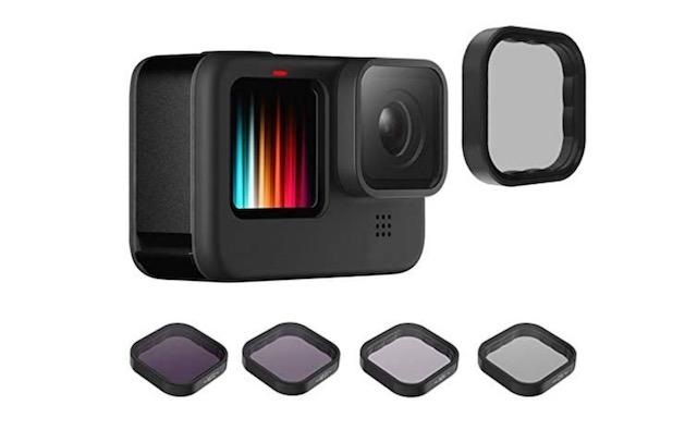 5. QKOO Filter Kit for GoPro Hero 9 Black