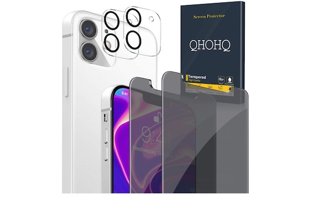 6. QHOHQ [2 +2 Pack] Privacy Screen Protector