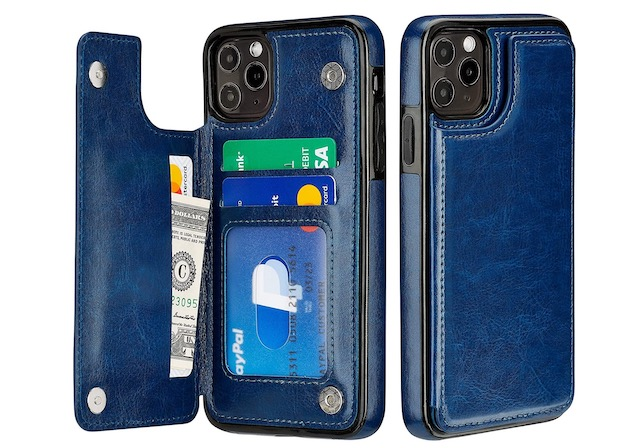 8. S-Tech iPhone 12 Mini Case with Buil-in Wallet and Kickstand