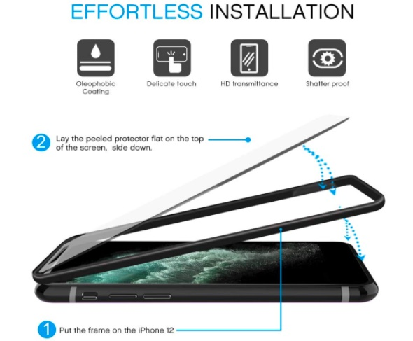 APEKX Screen Protector for iPhone 12