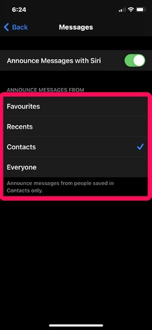 Announce messages with siri how to 5