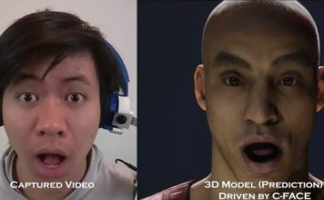 C-face facial tracking headphones feat.