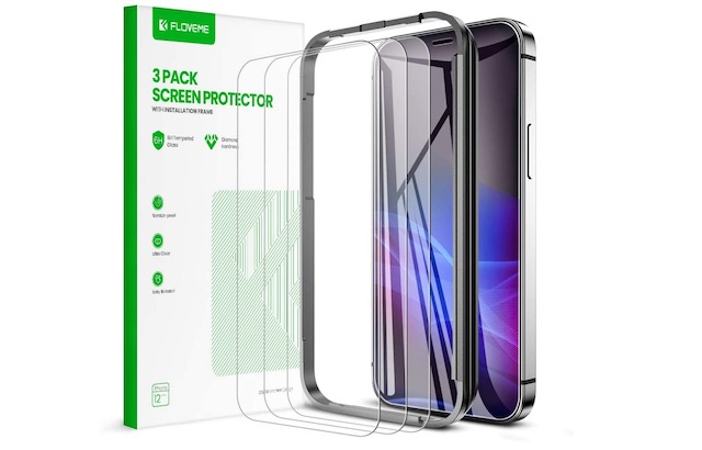FLOVEME Compatible for iPhone 12 Pro Max Screen Protector