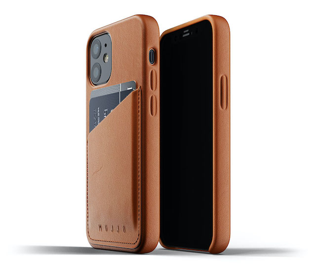 Full Leather Wallet Case for iPhone 12 mini - Tan