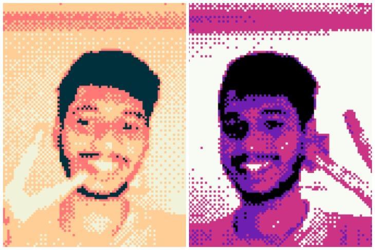 Game boy camera selfie web-app feat.