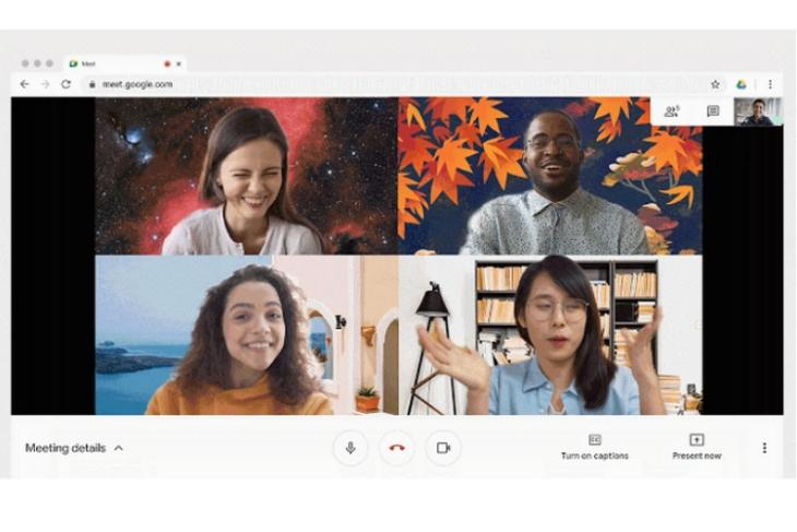 Google Meet Now Supports Custom Backgrounds on the Web