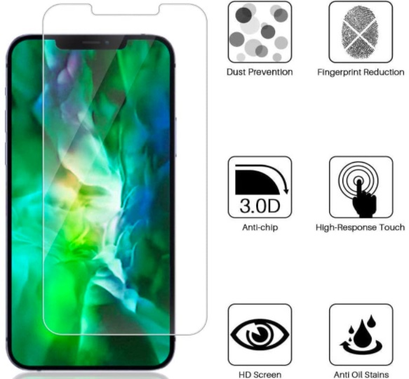 Hihitry Screen Protector for Apple iPhone 12 Pro Max