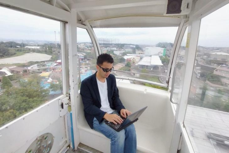 Japanese theme park work from home - ferris wheel feat.
