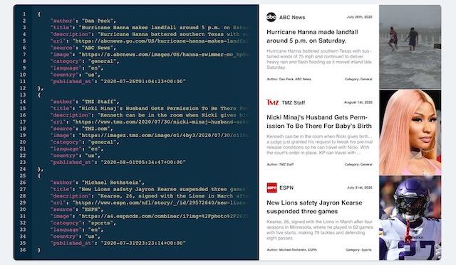 Mediastack API Working