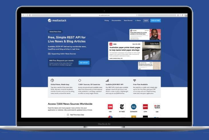 Mediastack- Live News and Blog Articles REST API