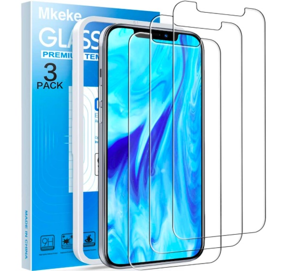 Mkeke Compatible with iPhone 12 Screen Protector