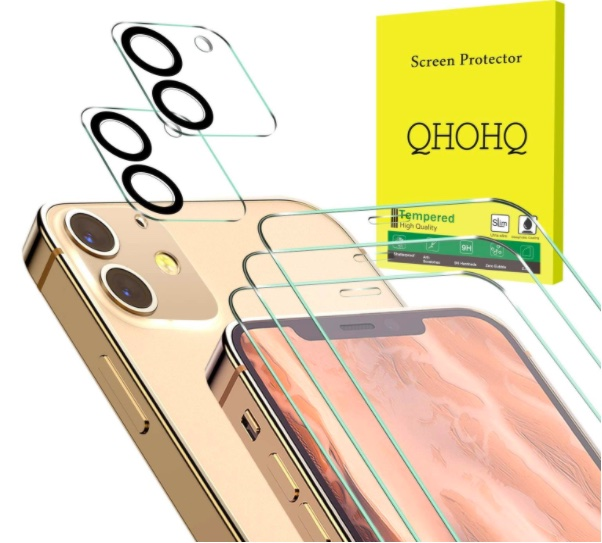QHOHQ 3 Pack Screen Protector for iPhone 12