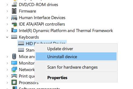 Désactiver un clavier d'ordinateur portable sous Windows 10