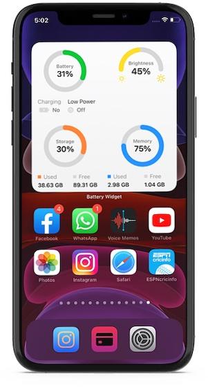 advanced battery widget