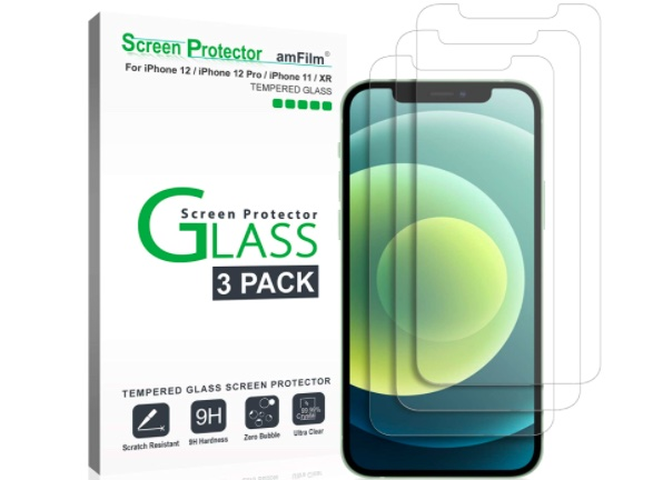 amFilm Glass Screen Protector for iPhone 12