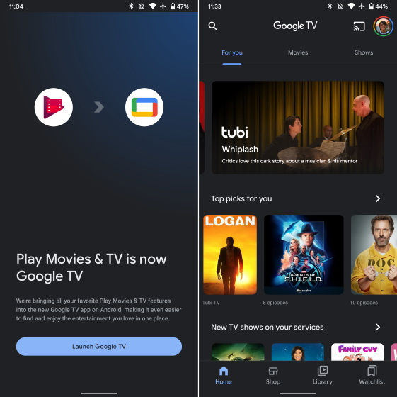 google TV - play movies and TV
