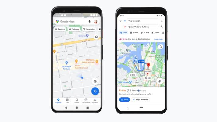 google maps live busyness info