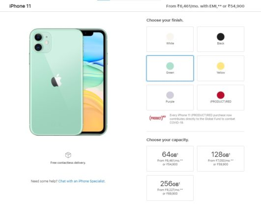 iphone 11 price cut india