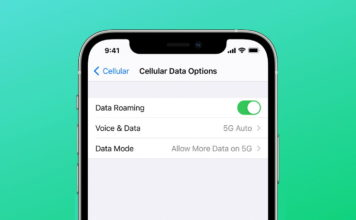 apple iphone 12 - download updates over 5G network - new
