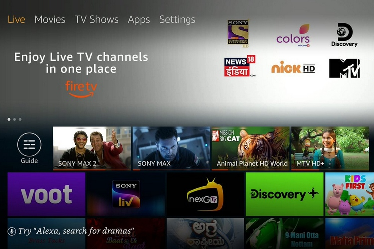 Amazon introduces Live TV feature for Fire TV devices in India