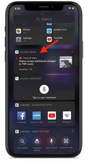 new Google News widget