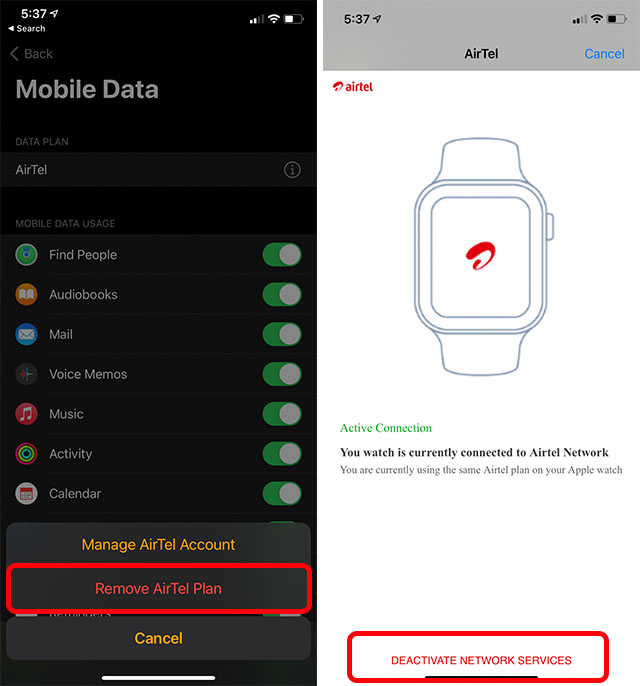 How to Remove Data Plan from Apple Watch