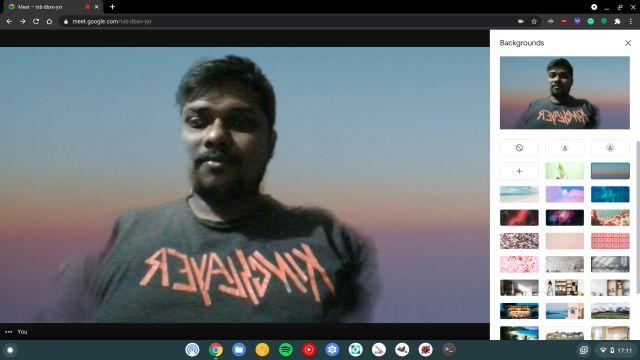 use custom backgrounds on google meet