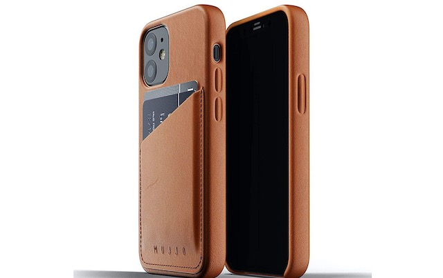 2. Mujjo Full Leather Wallet Case for iPhone 12 Mini