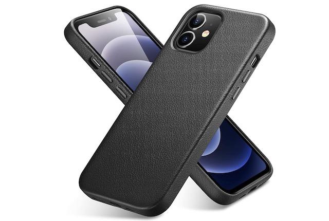 5. ESR Leather Case for iPhone 12 mini