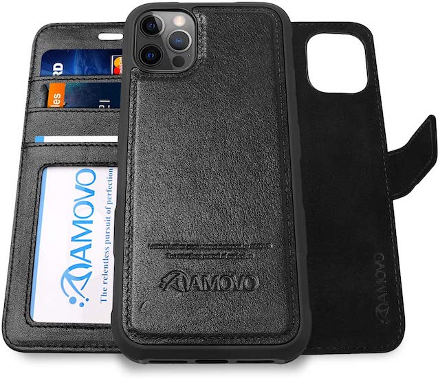 AMOVO Compatible with iPhone 12 Pro Max Case Wallet