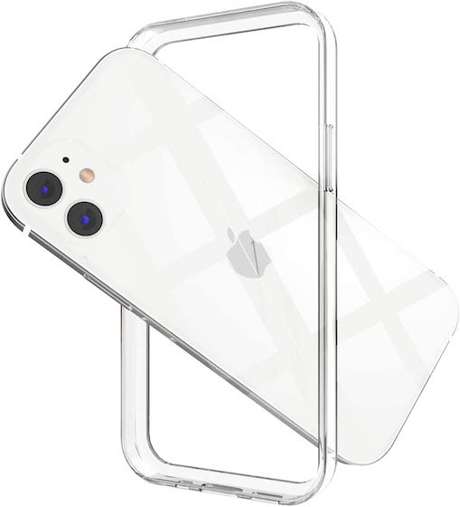 ANHONG Clear Frame Bumper Case Compatible with iPhone 12:12 Pro 6.1 inch