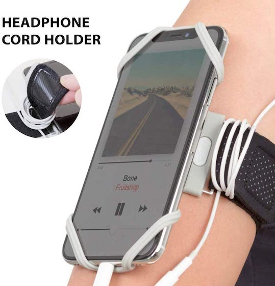 Bone Run Tie Running Armband Phone Holder, Lightweight Sports Cell Phone Arm Band for iPhone 12